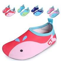 JACKSHIBO Kids Swim Water Shoes Quick Dry Barefoot Aqua Socks Shoes for Beach Surf Yoga Exercise