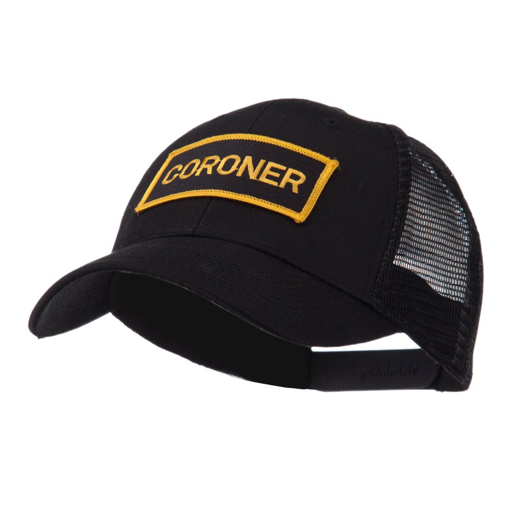 e4Hats.com Text Law and Forces Embroidered Patched Mesh Cap