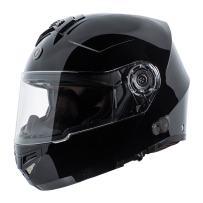 TORC T27B2 FBK XL Gloss Black T27 Full Face Modular Helmet with Integrated Blinc Bluetooth, X-Large