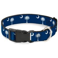 Buckle-Down Dog Collar Plastic Clip South Carolina Flags Available in Adjustable Sizes for Small Medium Large Dogs