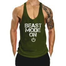 InleaderAesthetics Men's Cotton Fitness Beast Model Stringer Tank Tops
