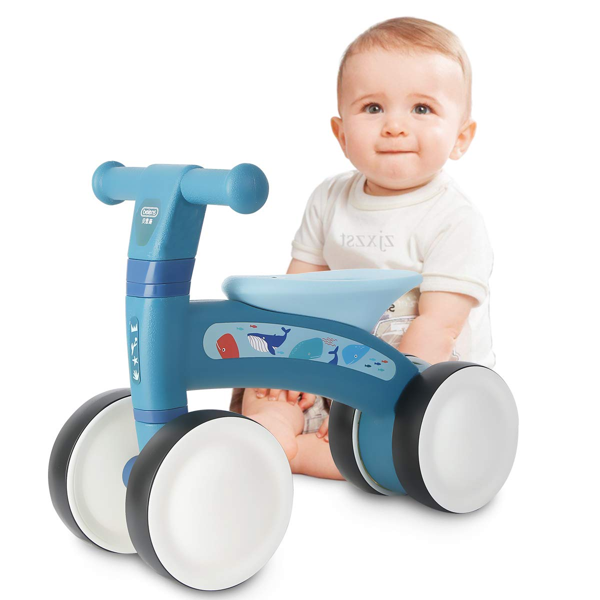 beiens Baby Balance Bikes, Baby Bicycle for 1 Year Old, Toddler Bike Toddler Riding Toys for 9 Months - 24 Months Boys Girls No Pedal 4 Training Wheels Baby First Birthday Gift Bike