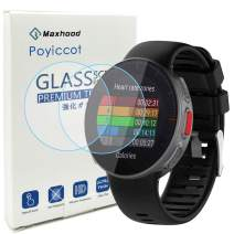 Poyiccot for Polar Vantage V Screen Protector, 0.3mm Ultra-Thin 9H Hardness Anti-Fingerprint Tempered Glass Screen Protector for Polar Vantage v Watch