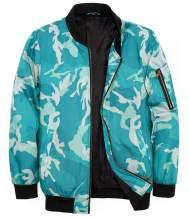 MADHERO Men's Flight Bomber Jacket Winter Camo Quilted Coat Outerwear