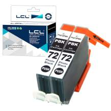 LCL Compatible Ink Cartridge Replacement for PGI-72 PGI-72PBK Pro-10 Pro-10s (2-Pack Photo Black)