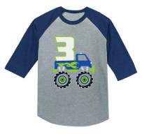 Tstars 3rd Birthday Gift for Boys 3 Year Old 3/4 Sleeve Baseball Jersey Toddler Shirt