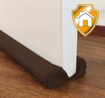 MAXTID Door Draft Stopper Brown Double Sided Insulator Adjustable 32 to 38 inch Door Air Blocker for Bottom of Doors Door Sweep
