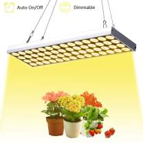 JCBritw LED Grow Light Dimmable Auto On/Off Timer Plant Growing Lamps for Indoor Plants 60W Full Spectrum White 3500K Plant Light Hanging for Seedling Veg Flower