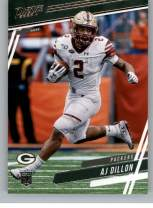2020 Panini Prestige Football #204 AJ Dillon RC Rookie Card Green Bay Packers Official NFL Trading Card From Panini America