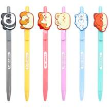 Coosy Anirollz School Supply Stationary Character Gel Pen 1PC : 6 Designs (Set of 6)