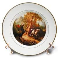 3dRose cp_36406_1 Headless Horseman Pursuing Ichabod Crane Painting-Porcelain Plate, 8-Inch