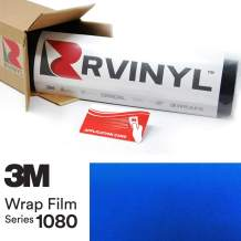 3M 1080 G337 Gloss Blue FIRE 5ft x 12ft W/Application Card Vinyl Vehicle Car Wrap Film Sheet Roll