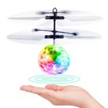 DORARA Flying Ball,Children Flying Toys, RC Drone Helicopter Ball Built-in Shinning LED Lighting for Kids, Teenagers - RC Toy for Children