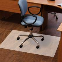 Elegear Hard Floor Chair Mat, Home Office Non-Breakable Clear Floor Mat, Laminate and Tile Floor Protector for Office Desk Chair, Easy Glide, No Curling (47'' x 35'', 0.07'' Thickness)