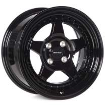 Circuit Performance CP26 15x8 Full Gloss Black 4-100 [+25mm]