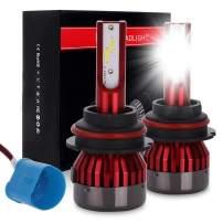 ECCPP 9004 LED Headlight Bulb Hi/Lo Beam White Headlamp Conversion Kit - 80W 6000K 9600Lm - 5 Year Warranty(Pack of 2)