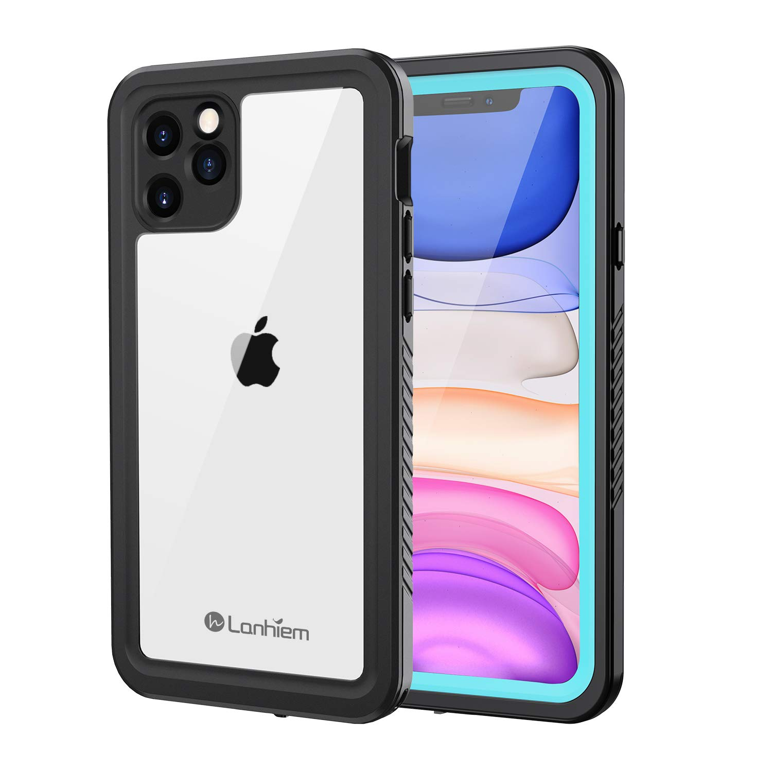 Lanhiem iPhone 11 Pro Max Waterproof Case, 360 Full Body Protection Underwater Dirtproof Shockproof Clear Cover with Built-in Screen Protector for iPhone 11 Pro Max 6.5 Inch (Blue)