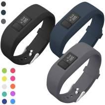 SKYLET Compatible with Garmin Vivofit 3 /JR/JR.2 Bands, Soft Silicone Replacement Bands Compatible with Vivofit 3/JR/JR.2 Accessories Bracelet with Secure Watch Buckle Kids Women Men