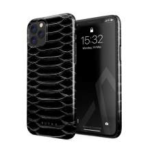 BURGA Phone Case Compatible with iPhone 11 PRO MAX - Darkest Path Savage Wild Black Snake Skin Cute Case for Women Thin Design Durable Hard Plastic Protective Case