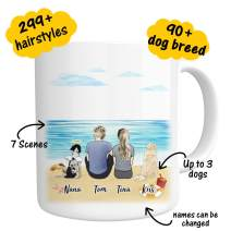 Custom Dog Mug Personalized Pet Name and Photo Coffee Mug - Funny Pet Customizable Coffee Cup for Birthday Christmas Fur Mom Dad From Dog Lover 11oz(couples)