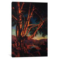 "iCanvasART 1-Piece Old White Birch Canvas Print by Maxfield Parrish, 26"" x 18""/0.75"" Deep"
