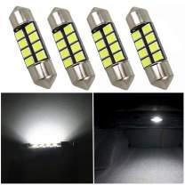 WLJH 31mm DE3175 Led Bulb Festoon 30mm 3022 3175 DE3021 6000k White 12V 2835 8 SMD Car Dome LED Light Replacement Interior Light for 2006-2011 Honda Pilot (Pack of 4)
