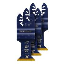 Norske Tools NOTP272 1-1/4 inch Wood and Metal Flush Cut Titanium Oscillating Multi Tool Accessory Blades (3 Pack Set)