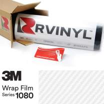 3M 1080 CFS10 Carbon Fiber White 5ft x 10ft W/Application Card Vinyl Vehicle Car Wrap Film Sheet Roll