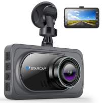"""VStarcam Dash Cam 1080P Dash Camera for Cars,Super Wide Angle Car Camera with Super Night Vision,3"""" IPS HD Screen Dash Camera for Cars,Dashboard Cam with G-Sensor,WDR,Parking Monitor,Loop Recording"""