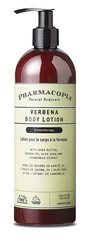 Pharmacopia Verbena Body Lotion – Moisturizing Aromatherapy Body Cream with Natural & Organic Ingredients – Vegan, Cruelty Free, Aromatic Body Moisturizer, 16oz