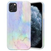 Caka Case for iPhone 11 Pro Marble Case Protective Shockproof for Girls Women Soft Rubber TPU Slim Flexible Anti Scratch Fashion Luxury Marble Case for iPhone 11 Pro (5.8 inch)(2019)(Opal)