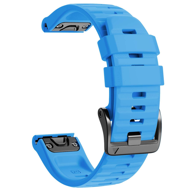 NotoCity Compatible with Fenix 6X Watch Band for Fenix 6X/Fenix 6X Pro/Fenix 5X/Fenix 5X Plus/Fenix 3/HR/Descent MK1/D2 Delta PX/D2 Charlie(Blue)