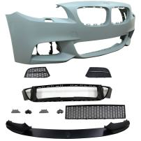 Front Bumper Cover Compatible With 2011-2016 BMW F10 | 5 Series LCI M-Tech M Sport Front Bumper Conversion Guard Protection PP by IKON MOTORSPORTS