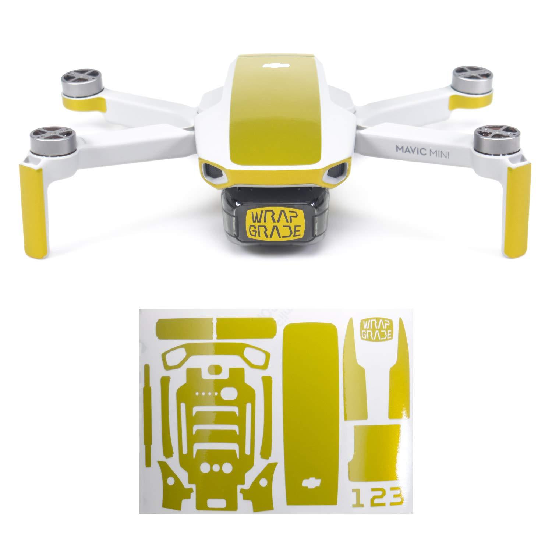Wrapgrade Skin Compatible with DJI Mavic Mini | Accent Color (LIMONCINO Yellow)