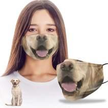 VTH Global Funny 3D Labrador Retriever Dog Mom Dad Reusable Washable Face Mask Women Men for Dust Protection