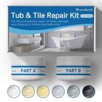 Tub, Tile and Shower Repair Kit (Color Match) Fiberglass Repair Kit -White/Almond/Black/Bone/Bisque/Biscuit/Grey/Cream/Off White/Beige, Odorless Bathtub Paint/Porcelain Repair Kit