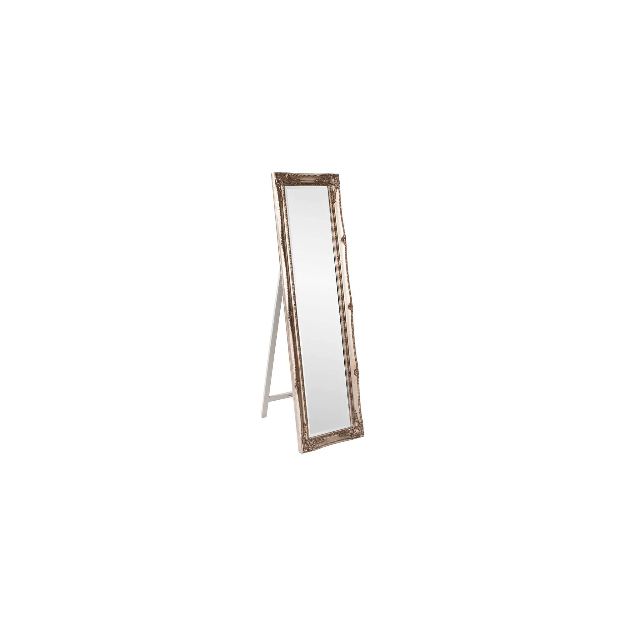 Howard Elliott 57026 Queen Ann Mirror, Standing, Antique Silver Leaf