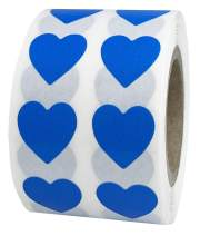 Blue Heart Stickers Valentine's Day Crafting Scrapbooking 0.50 Inch 1,000 Adhesive Stickers Blue Heart Stickers Movement