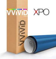 VViViD Metallic Blue 3D Carbon Fiber Vinyl Wrap Roll XPO Air Release Technology (17.75 Inch x 60 Inch)