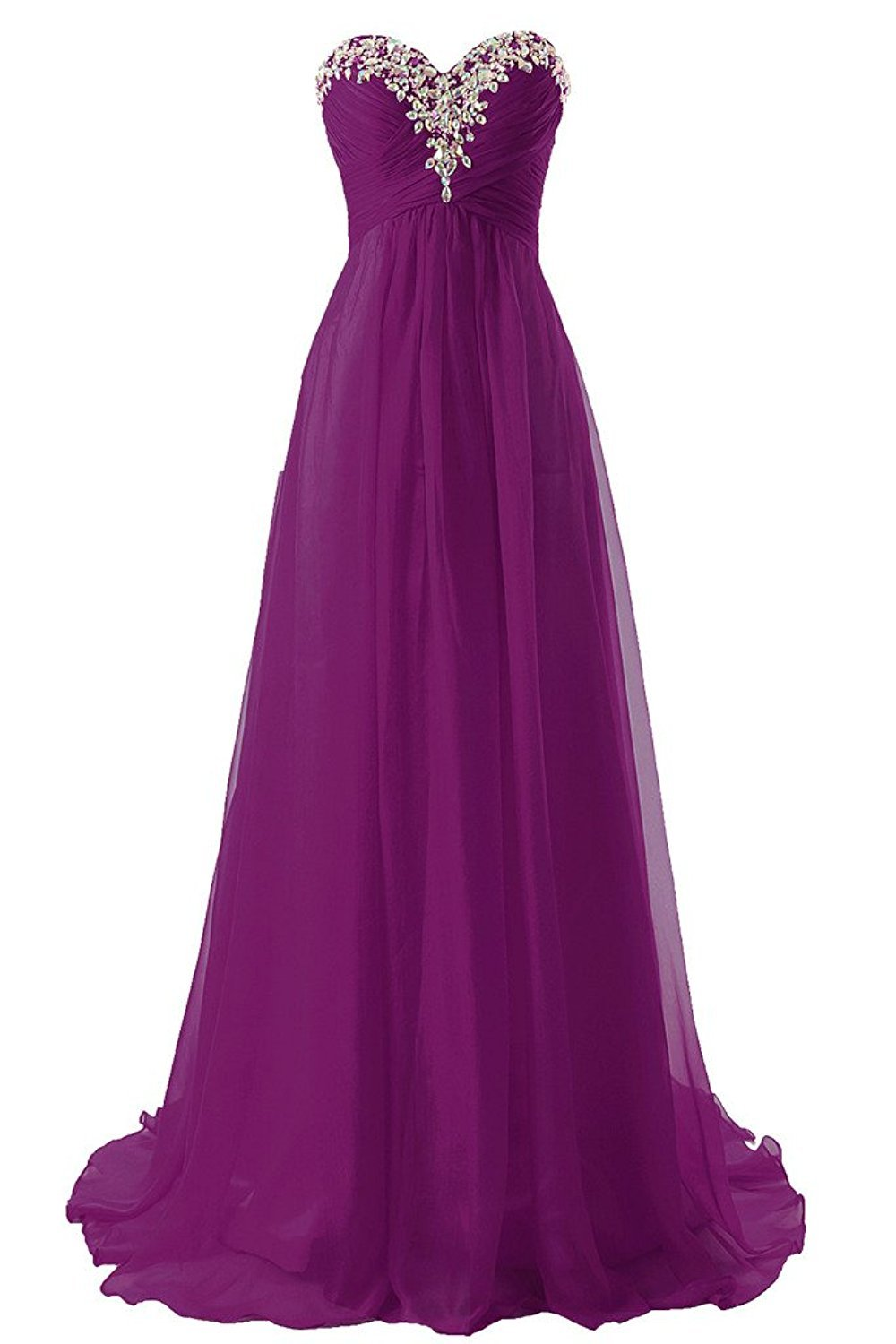 JAEDEN Prom Dress Bridesmaid Dresses Long Prom Gowns Chiffon Formal Evening Gown A line Evening Dress Orchid US24W