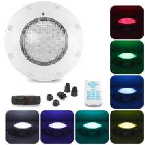 tunez 45W LED Underwater Swimming Pool Light Colour Changing RGB 18 Keys New Advance Remote Control Wall Surface Mounted ABS IP68 Waterproof Underwater Light 1.5 Meter Wire 12V AC Power