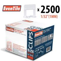 """Eventile Tile Leveling System Clips Spacers Clips (2500, 1/32""""(1MM))"""