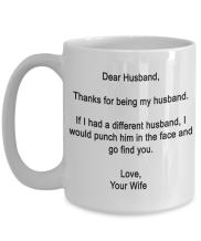 SpreadPassion 11 Ounce Funny Gifts For Husband, Dear Husband - Thanks for being my husband, Funny Mug For Husband