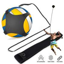 Chanmeen Ball Training Equipment for Volleyball, Football and Basketball with Adjustable Elastic Cord Band 220-620cm for Adult Kids Solo Practice Spiking, Setting, Hitting, Kicking
