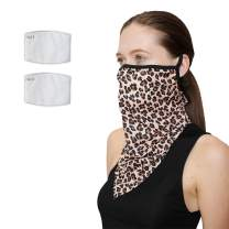 Men Women Face Scarf Bandana Loose Ear Loops Face Mask Balaclava Neck Gaiter Outdoors with Filter Pocket Bandana