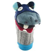 Cate & Levi - Hand Puppet - Premium Reclaimed Wool - Handmade in Canada - Machine Washable (Hippo)