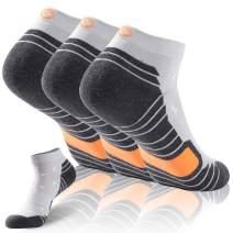 Gmark Unisex Ultimate Dry Cotton Athletic Ankle Socks 1,3,6 Pairs Running Socks
