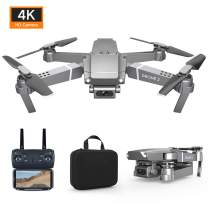 FPV WiFi Drone with 4K Camera Live Video 4CH 6-Axis Gyro Foldable RC Drone Quadcopter for Beginners with Altitude Hold,Headless Mode,APP Control,Trajectory Flight,Gesture Control
