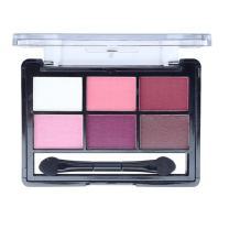 Mallofusa 6 Colors Eye Shadow Palette Eyeshadow Powder Makeup Kit Shimmer Matte Smokey 0.42 oz #2