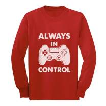 Always in Control Novelty Gamer Video Game Youth Kids Long Sleeve T-Shirt